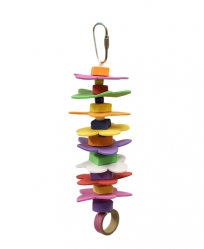 Vertical Hawaiian Lei by Made in the USA Bird Toys