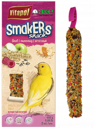 Smakers Fruit Canary Treat Stick 2pk - A&E