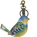 Anuschka Painted Leather Keycharm Blissful Birds