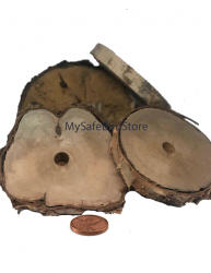 "Birch Wood 5 Inch Slice with 5/8"" Hole"