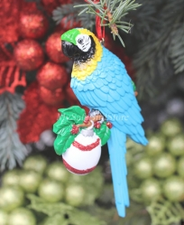 Blue & Gold Macaw Christmas Ornament
