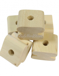 Bull Nose Natural Pine Wood Toy Part