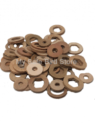 Leather Washer Grab Bag 1/4 Pound
