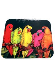 Five Parrots Computer MousePad