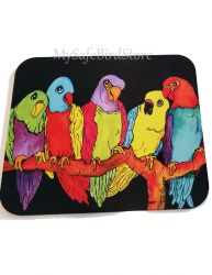 What's Happening Parrots Computer MousePad