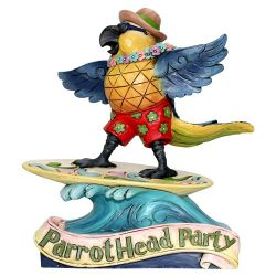 Margaritaville Surfing Parrot by Jim Shore