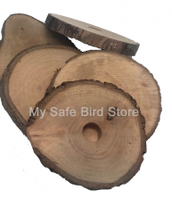 "Pear Wood 3 Inch Slice with 1/4"" Hole"