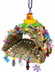 Tiki Hut Small by What the Flock Bird Toys