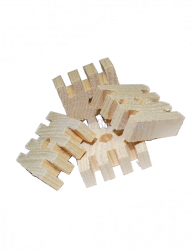 Grooved Wafers drilled 1.5x1.5x.50 Natural