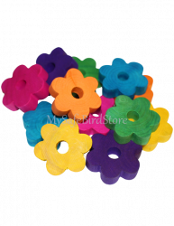 "Large Wood Flower 1 1/2"" 10 Pack"