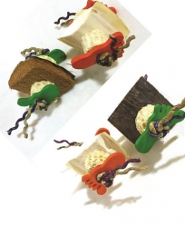 Java Wood Foot Toy Two Pack