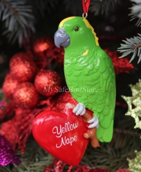 Amazon Parrot Christmas Ornament
