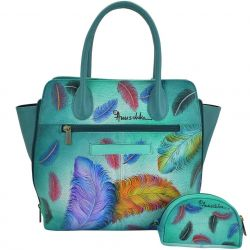 Anuschka Expandable Tote  Floating Feathers
