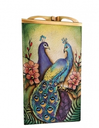 Anuschka Double Eyeglass Case Peacock