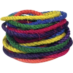 "Fun Max 3/8"" Sisal Rope 6 Colors 48"" each"