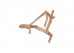 Java Wood Multi-Branch Small Bolt-on Natural Perch