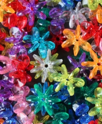 Large Flower Beads 10 Pack