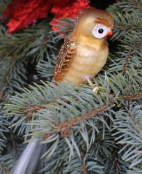 Old World Christmas Barn Owl Glass  Ornament