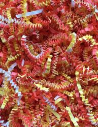Crinkle Paper Candy Corn for Toy Making 1.5 Oz