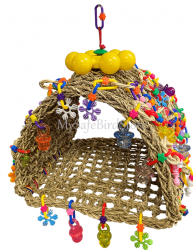 Tiki Hut Large by What the Flock Bird Toys