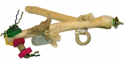 Java Wood Branch Medium with Toys